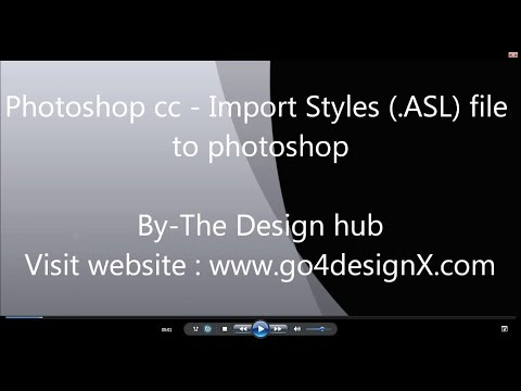 Photoshop tutorial-Load styles to photoshop