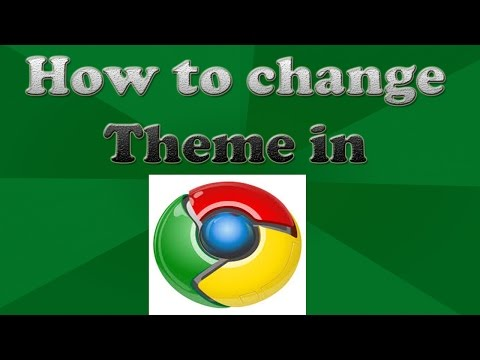 How to change Theme in Chrome