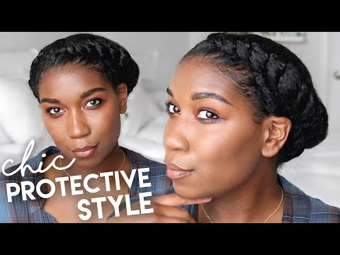 Asymmetrical Twisted Crown | Protective Hairstyles Natural Hair - Naptural85
