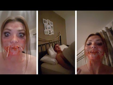 Girl Scares Boyfriend With Halloween Make-Up