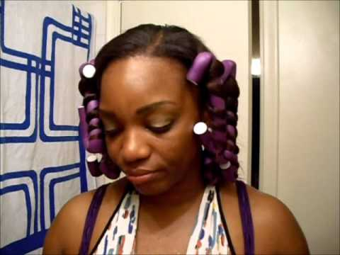 Spiral Curls with flexi-rods