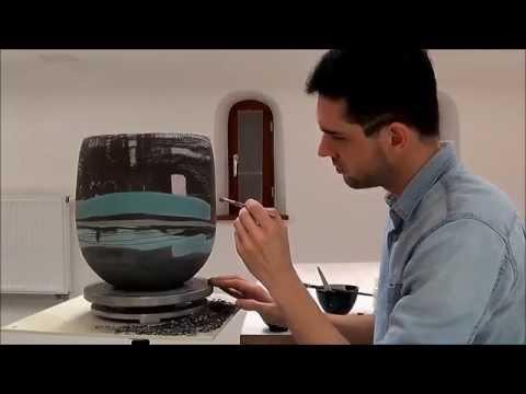 Engobe ceramic decoration Full HD