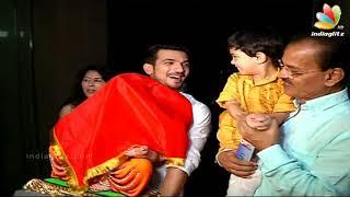 Arjun Bijlani Takes Ganpati Bappa Idol At His Home