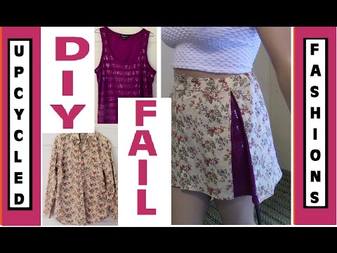 DIY FASHION FAIL - Men's Shirt and Tank to Pleated Skirt - Upcycled Fashions Ep. 7