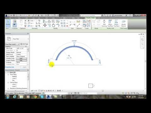 Revit 03-12 Sketching Start End Radius Arc Profiles