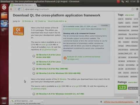 Installation de Qt 5.0 sur Ubuntu