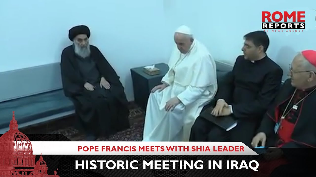 Historic meeting in Iraq: Pope Francis meets with Shia leader, Ali al-Sistani