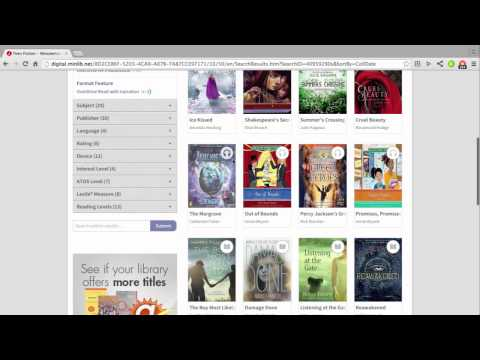 Downloading library e-books to your Kindle using Overdrive
