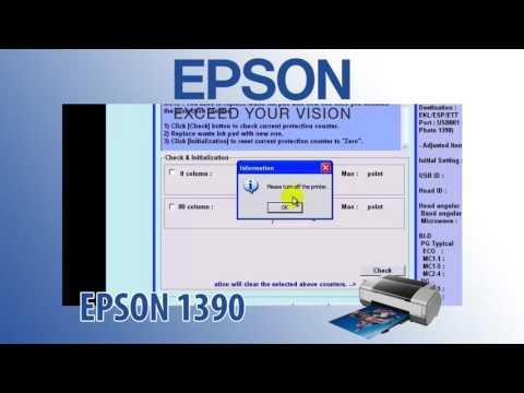 Epson 1390 Adjustment Program Resetter
