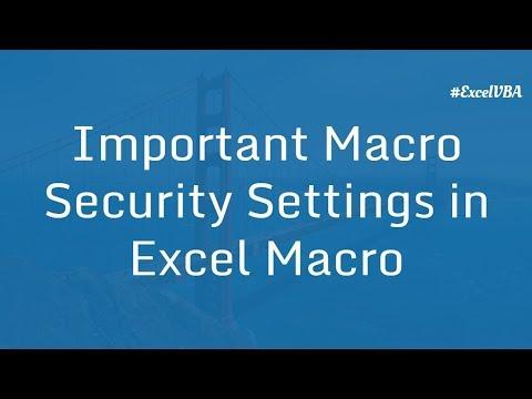 Important Macro Security Settings in Excel | Excel VBA Macro in Hindi
