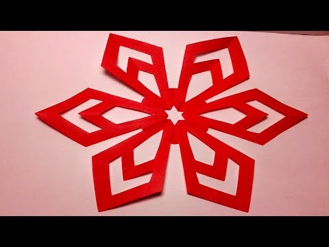 Paper Cutting-How to make Easy & Simple paper cutting Flower Design? Kirigami Tutorials.