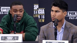 """ERROL SPENCE SNAPS AT MIKEY GARCIA AS BOTH GO BACK AND FORTH! """"IM NOT YOUR OTHER OPPONENTS!"""""""