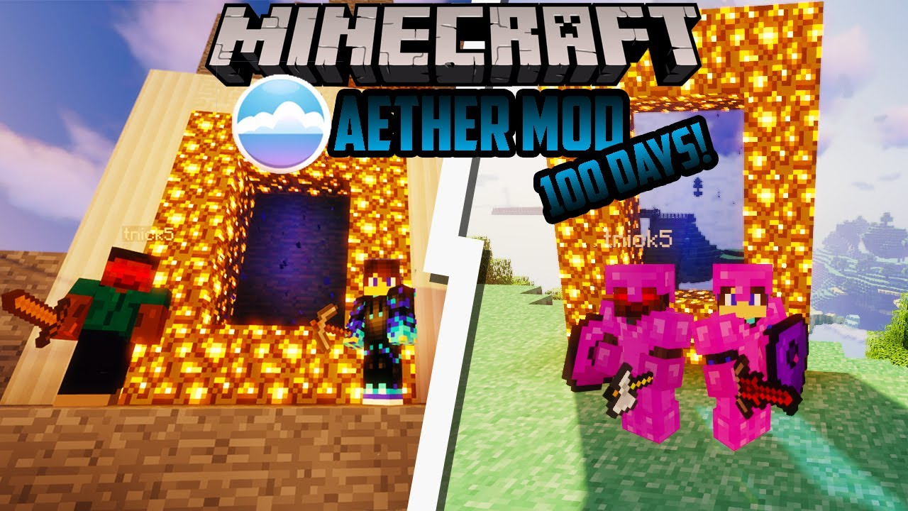 We Survived 100 Days In the AETHER! Duo Minecraft 100 Days Modded (Aether Legacy Mod Pack 2021)