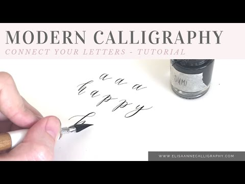 How to Connect Your Letters When Writing in Calligraphy || Calligraphy Tips & Tricks
