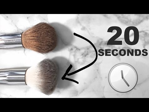 How to CLEAN & DRY Brushes In 20 SECONDS