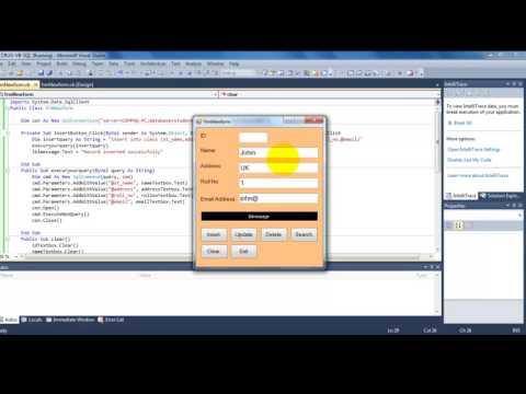 INSERT, READ, EDIT, DELETE (CRUD) VB.Net 2010 & SQL Server 2008