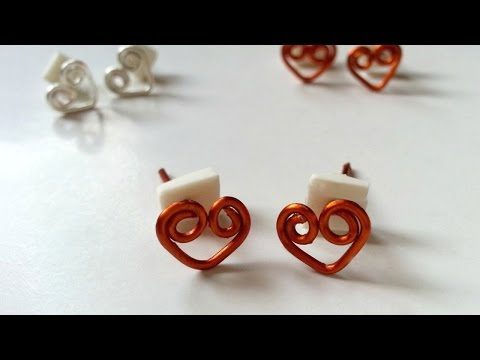 Create Swirly Heart Stud Earrings - DIY  - Guidecentral