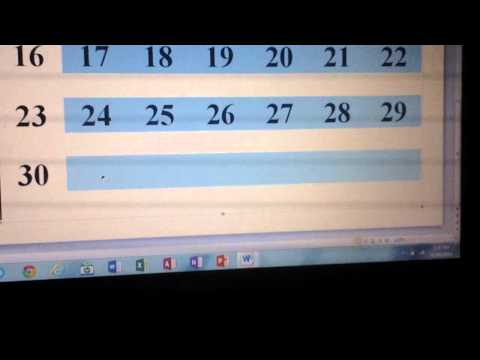 CREATING A CALENDAR USING MICROSOFT WORD 2O10 and