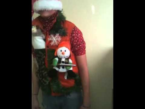 Light up singing redneck hunters Christmas vest