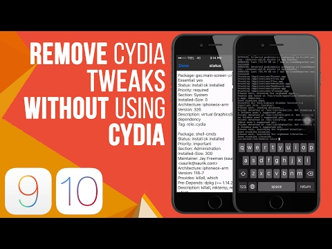 How To Remove Cydia Tweak Without Using Cydia For iOS 10.2, 9.3.3, 9.2.1 Jailbreak