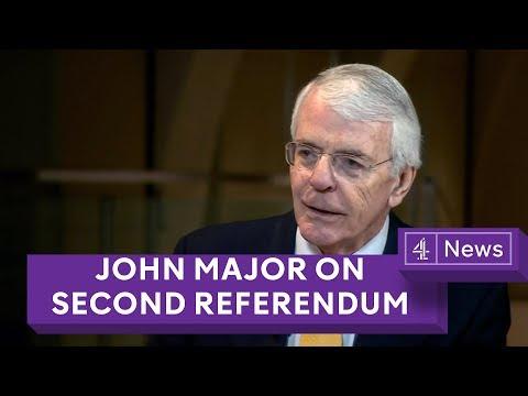 Sir John Major: Parliament should 'take control' of Brexit