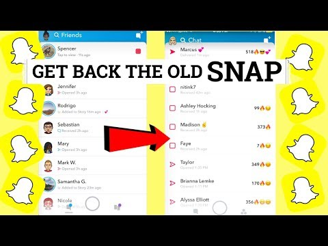 HOW TO GET BACK THE OLD SNAPCHAT BACK!!! - NO VPN