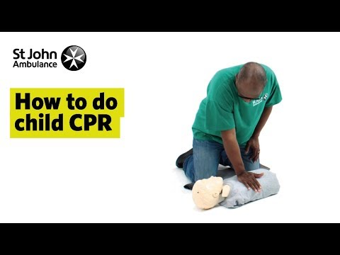 How to do Child CPR - First Aid Training - St John Ambulance