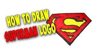 How To Draw Superman Logo Easy Fast Mr Cute Cartoon Drawing Club