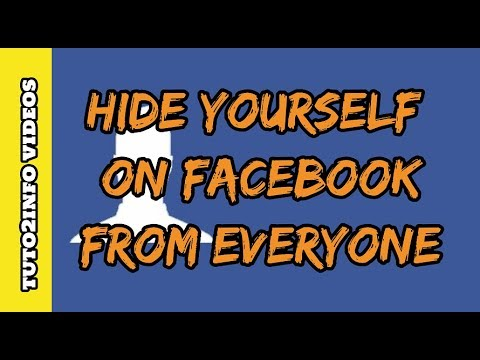 How to Hide Yourself on Facebook from Everyone | Hide Facebook Profile from Public | Really Easy