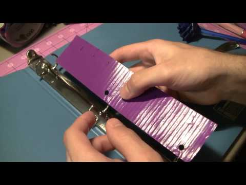 How to make Duct tape School binder accessories!