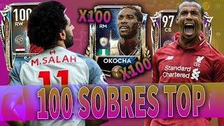 ABRO 100 SOBRES de BUSQUETA DEL TESORO y ME SALE ESTO!! EL MAYOR PACK OPENING DE FIFA MOBILE!