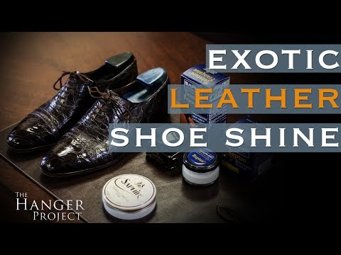 How to Polish Reptile Leather Shoes   Exotic Leather Shoe Care