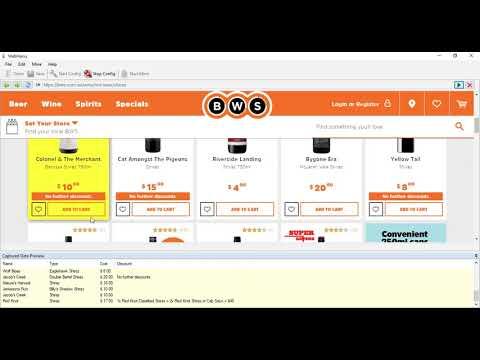 BWS.com.au scraping using Webharvy
