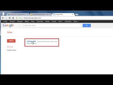 How to embed Google Docs Presentation