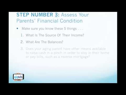 How to Avoid Financial Strain with Your Aging Parent