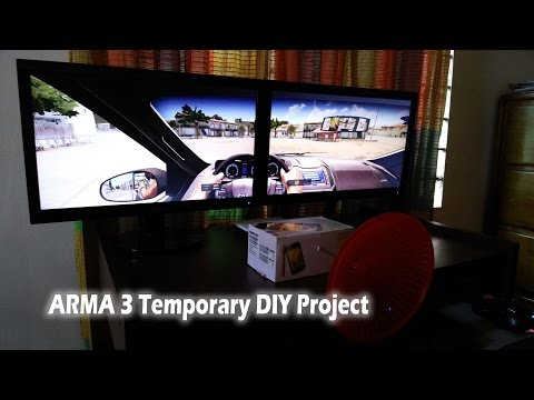 Arma 3 - DIY cheap driving wheel for car (Temporary Project)