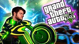 GTA 5 - TRON BIKE MADNESS! (GTA 5 PC Online Funny Moments!)