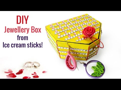 Easy DIY Craft Ideas : How to Make Ice Cream Sticks Handmade Jewellery Box