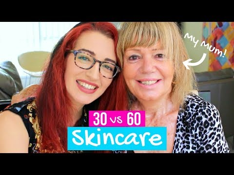 SKINCARE In Your 30s VS Your 60s! Anti-Aging Tips From MY MUM!