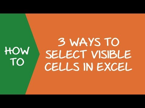 3 ways to select visible cells in Excel