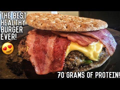 Healthy Bodybuilding Bacon Cheeseburger Recipe | Double Seal Approved
