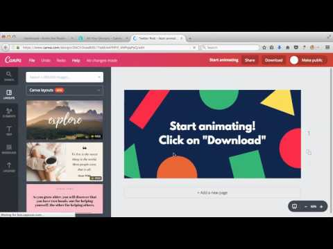 Canva New Feature  - Animated GIF Images and Videos