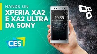 Hands on: Xperia XA2 e XA2 Ultra, os novos intermediários da Sony - CES 2018 - TecMundo