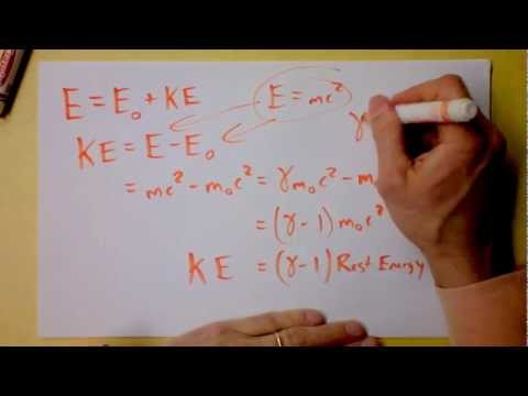 Relativistic Kinetic Energy, Rest Energy, Light Energy, and some Nuclear Physics | Doc Physics