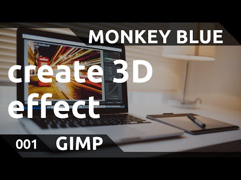 GIMP: how to create 3D effects of objects
