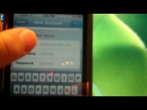 Set up Hotmail on iPhone iPod touch or iPad.wmv