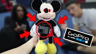 Attaching Gopro To Mickey Mouse At 3 Am!! (came After Us)