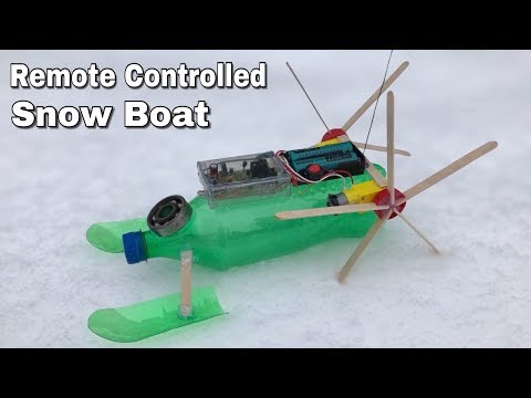 How to Make RC Snowmobile (Electric Robot)