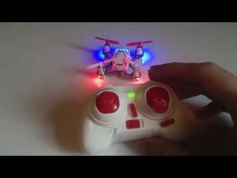 Hubsan Q4 unboxing mode 1 conversion & flight