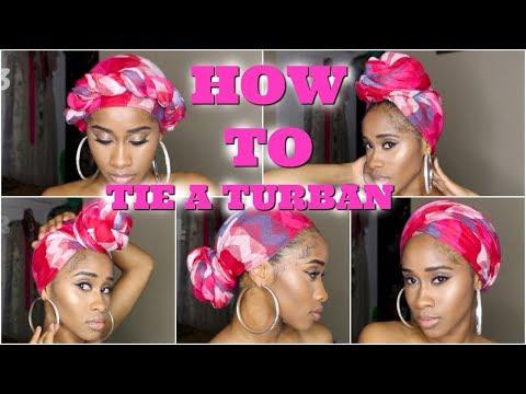 How To Tie A Turban - 5 EASY Ways   NaeandNea